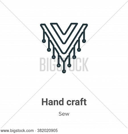 Hand craft icon isolated on white background from sew collection. Hand craft icon trendy and modern