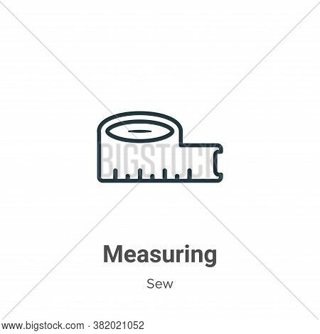 Measuring icon isolated on white background from sew collection. Measuring icon trendy and modern Me