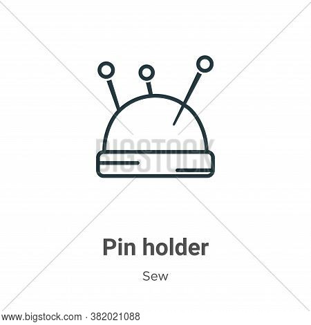 Pin holder icon isolated on white background from sew collection. Pin holder icon trendy and modern