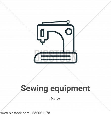 Sewing equipment icon isolated on white background from sew collection. Sewing equipment icon trendy