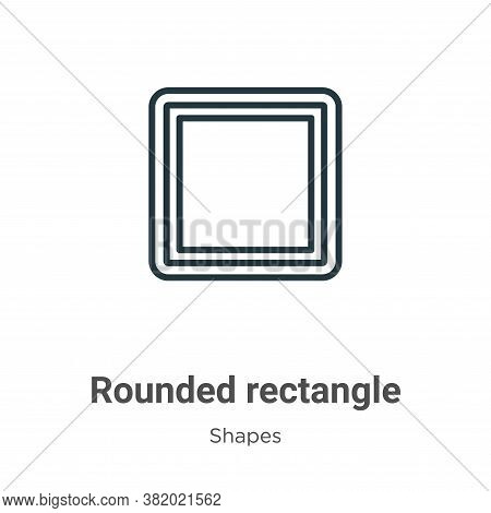 Rounded rectangle icon isolated on white background from shapes collection. Rounded rectangle icon t