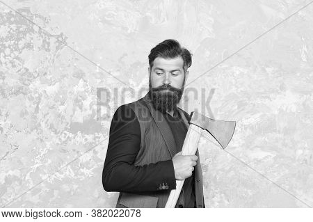 Brutal Business. Brutality And Masculinity. Brutal Bearded Businessman. Fearless And Brave. Brutal S