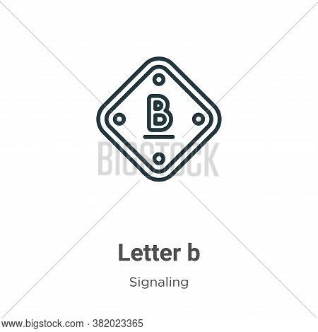 Letter b icon isolated on white background from signaling collection. Letter b icon trendy and moder