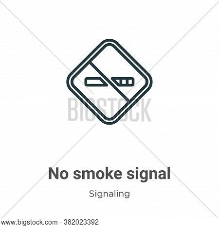 No smoke signal icon isolated on white background from signaling collection. No smoke signal icon tr