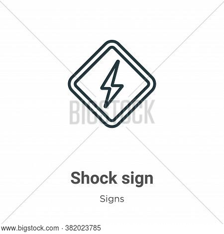 Shock sign icon isolated on white background from signs collection. Shock sign icon trendy and moder
