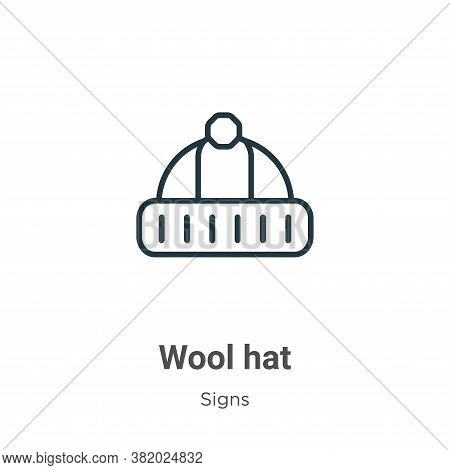 Wool hat icon isolated on white background from signs collection. Wool hat icon trendy and modern Wo