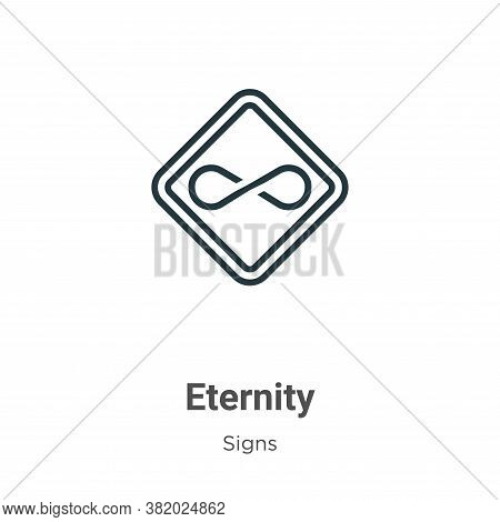 Eternity icon isolated on white background from signs collection. Eternity icon trendy and modern Et