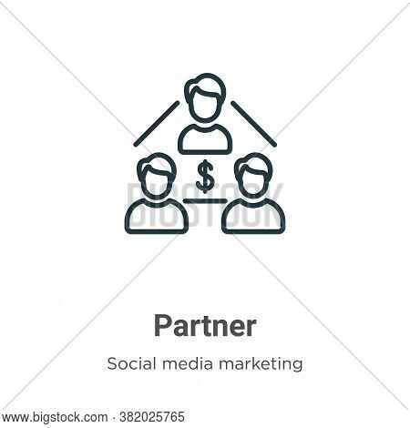 Partner icon isolated on white background from social media marketing collection. Partner icon trend