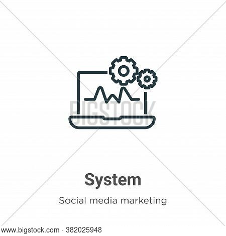 System icon isolated on white background from social media collection. System icon trendy and modern