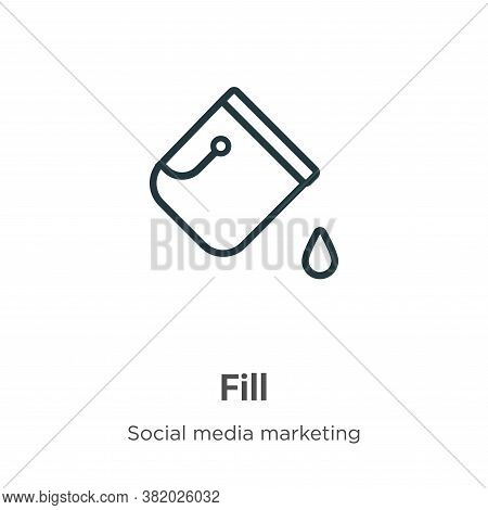 Fill icon isolated on white background from social collection. Fill icon trendy and modern Fill symb