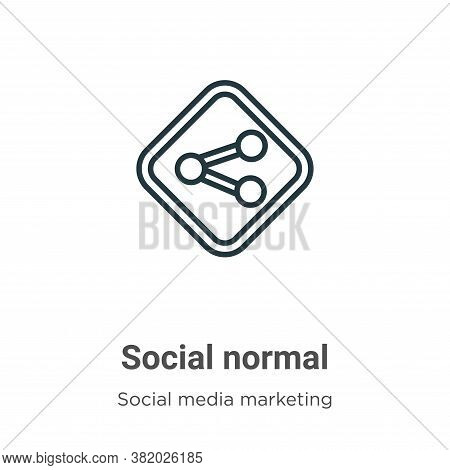 Social normal icon isolated on white background from social collection. Social normal icon trendy an