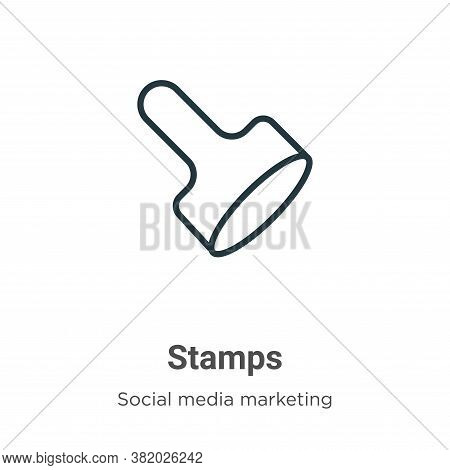 Stamps icon isolated on white background from social collection. Stamps icon trendy and modern Stamp