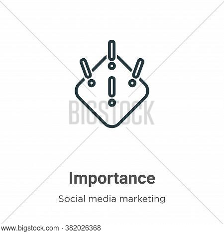 Importance Icon From Social Collection Isolated On White Background.