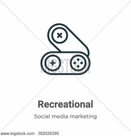 Recreational icon isolated on white background from social collection. Recreational icon trendy and