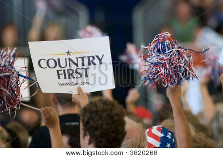 Country First Sign