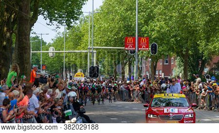 Utrecht, The Netherlands - 5 Jul, 2015: Tour The France Bicycle Tour Start In Utrecht With The Tour