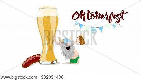 Illustration Of A Bavarian Man At Oktoberfest