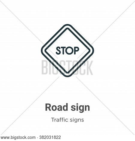 Road sign icon isolated on white background from traffic signs collection. Road sign icon trendy and