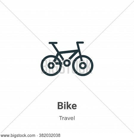 Bike icon isolated on white background from travel collection. Bike icon trendy and modern Bike symb