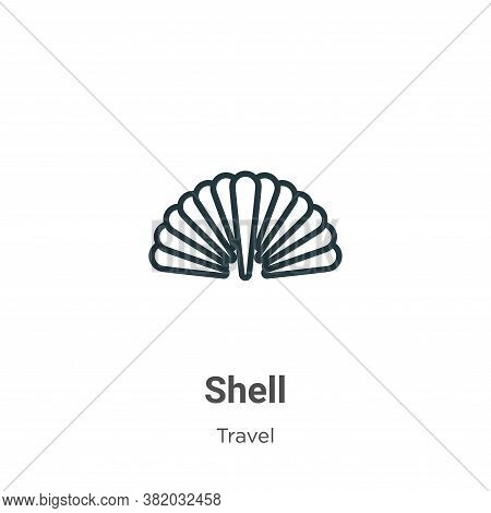 Shell icon isolated on white background from travel collection. Shell icon trendy and modern Shell s