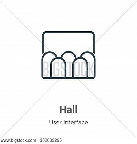 Hall icon isolated on white background from user interface collection. Hall icon trendy and modern H