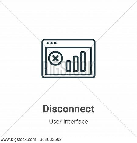 Disconnect icon isolated on white background from user interface collection. Disconnect icon trendy