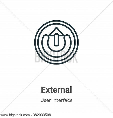 External icon isolated on white background from user interface collection. External icon trendy and