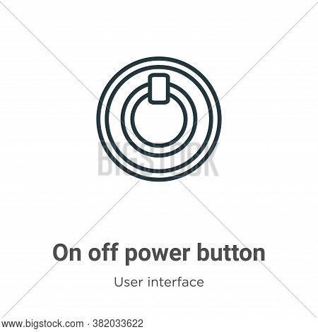 On off power button icon isolated on white background from user interface collection. On off power b
