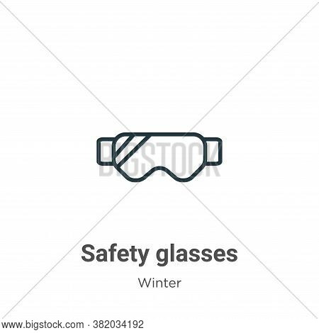Safety glasses icon isolated on white background from winter collection. Safety glasses icon trendy