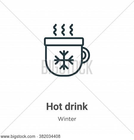 Hot drink icon isolated on white background from winter collection. Hot drink icon trendy and modern