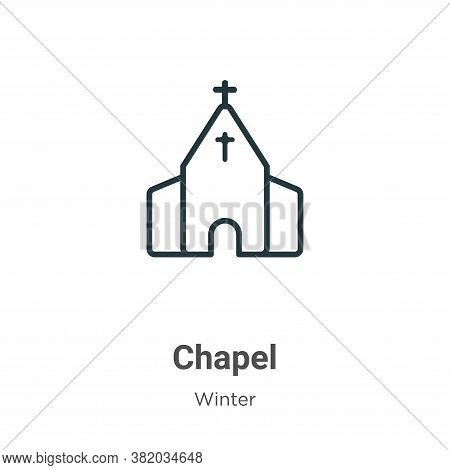 Chapel icon isolated on white background from winter collection. Chapel icon trendy and modern Chape