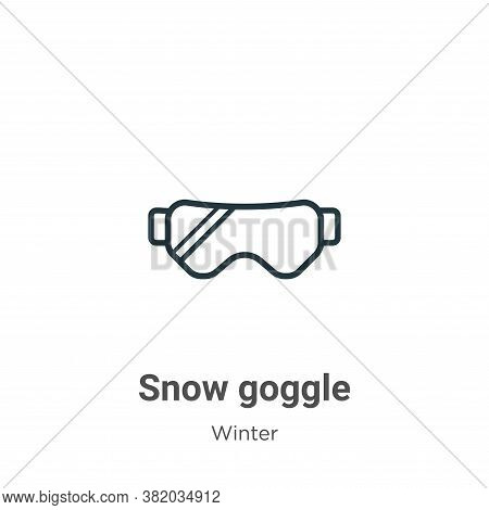 Snow goggle icon isolated on white background from winter collection. Snow goggle icon trendy and mo