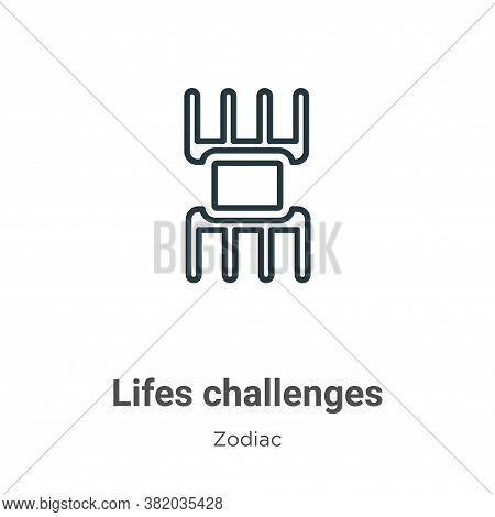 Lifes challenges icon isolated on white background from zodiac collection. Lifes challenges icon tre