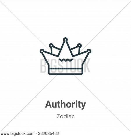 Authority Icon From Zodiac Collection Isolated On White Background.