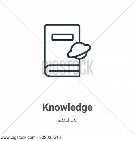 Knowledge icon isolated on white background from zodiac collection. Knowledge icon trendy and modern
