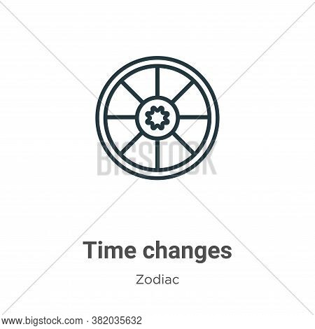 Time changes icon isolated on white background from zodiac collection. Time changes icon trendy and