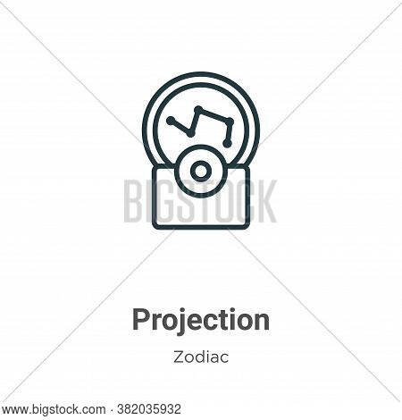 Projection icon isolated on white background from zodiac collection. Projection icon trendy and mode