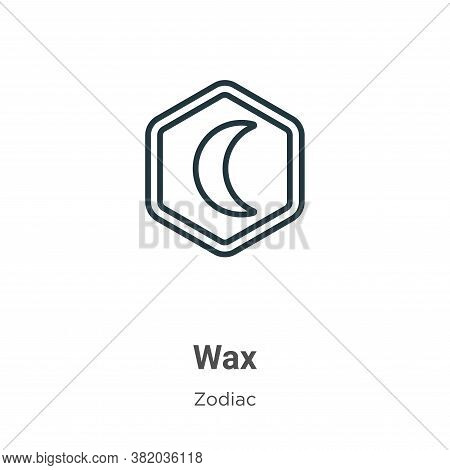 Wax icon isolated on white background from zodiac collection. Wax icon trendy and modern Wax symbol