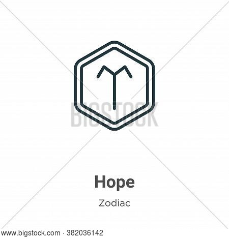 Hope icon isolated on white background from zodiac collection. Hope icon trendy and modern Hope symb
