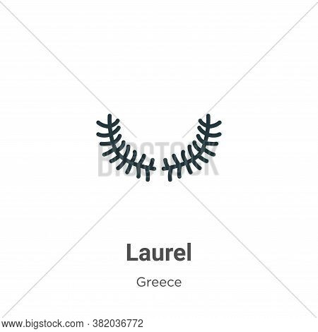 Laurel icon isolated on white background from greece collection. Laurel icon trendy and modern Laure
