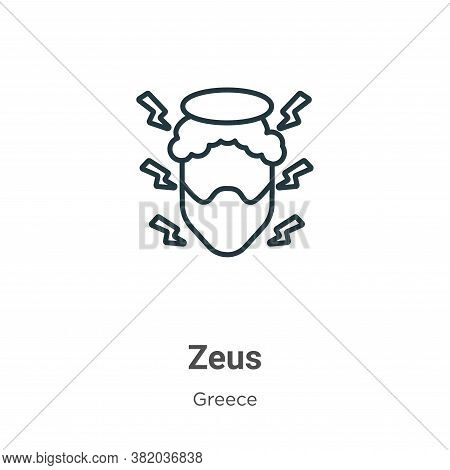 Zeus icon isolated on white background from greece collection. Zeus icon trendy and modern Zeus symb