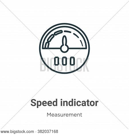 Speed indicator icon isolated on white background from measurement collection. Speed indicator icon