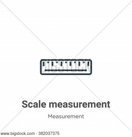 Scale measurement icon isolated on white background from measurement collection. Scale measurement i