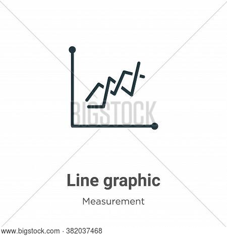 Line graphic icon isolated on white background from measurement collection. Line graphic icon trendy