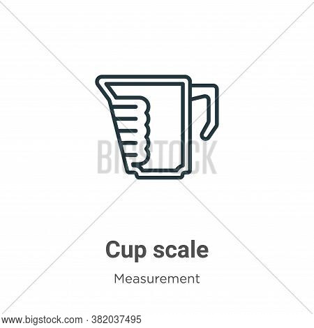 Cup scale icon isolated on white background from measurement collection. Cup scale icon trendy and m