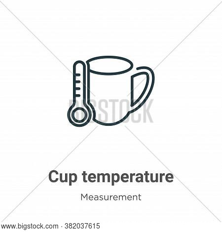 Cup temperature icon isolated on white background from measurement collection. Cup temperature icon