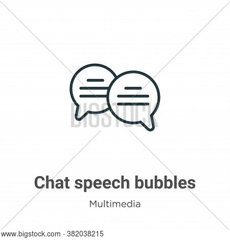 Chat speech bubbles icon isolated on white background from multimedia collection. Chat speech bubble
