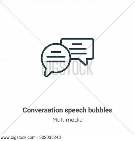 Conversation speech bubbles icon isolated on white background from multimedia collection. Conversati