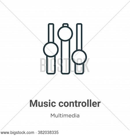 Music controller icon isolated on white background from multimedia collection. Music controller icon