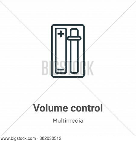 Volume control icon isolated on white background from multimedia collection. Volume control icon tre
